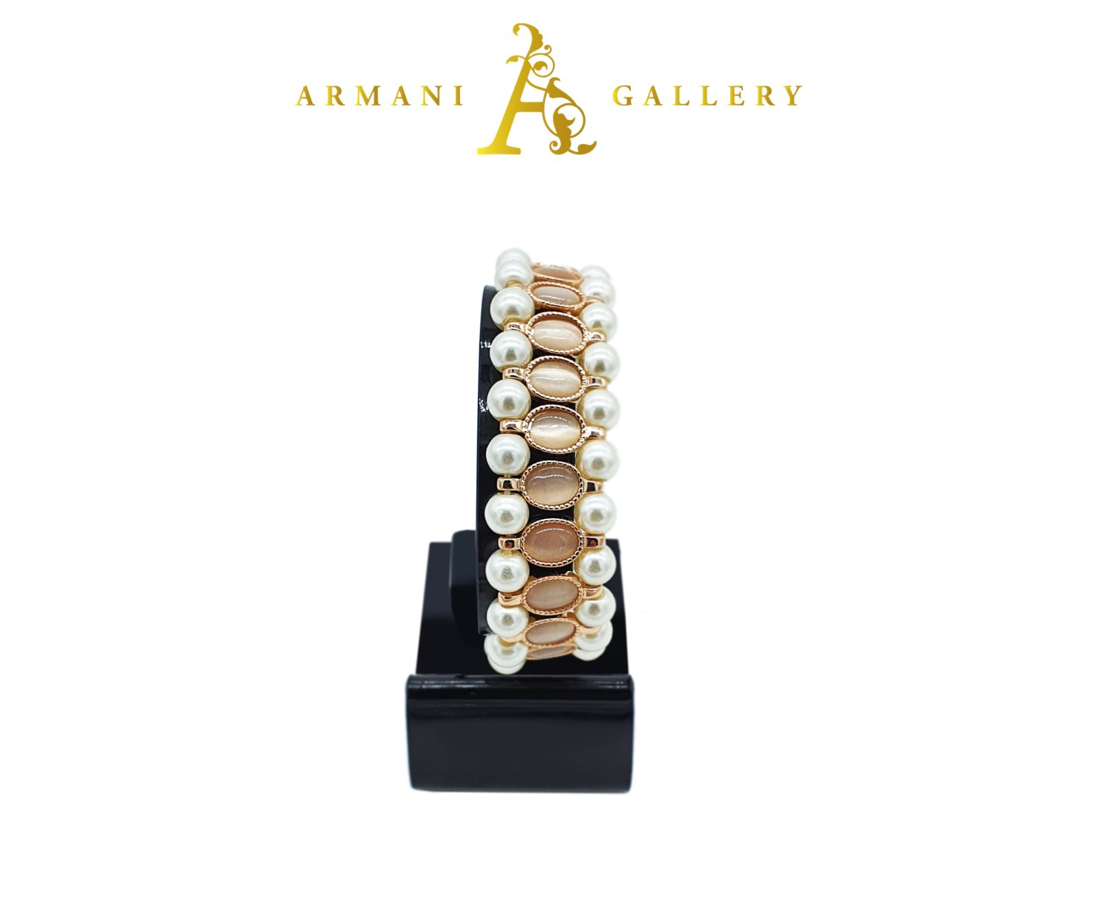 Buy Pearl & Marble Bracelet - Rose Gold & Silver