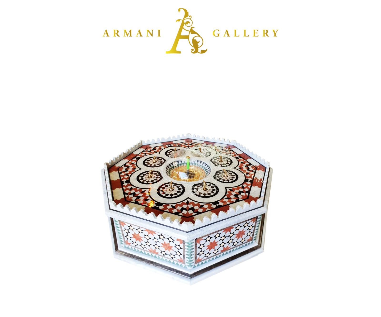 Buy Traditional Syrian Marble Water Fountain - Large