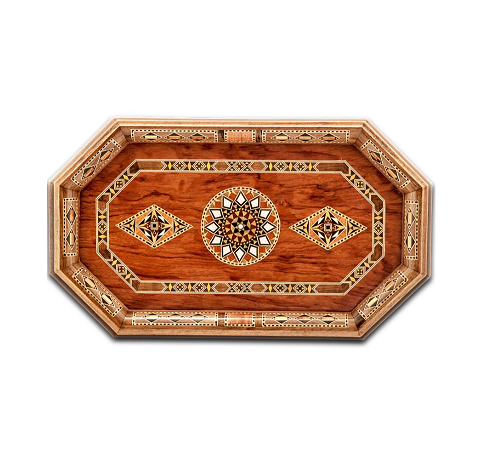 Buy Wooden Octagon Serving Tray