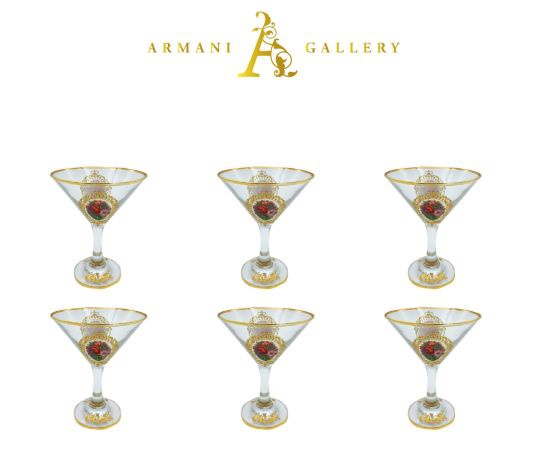 Buy Turkish Floral Round Cocktail Glass Set