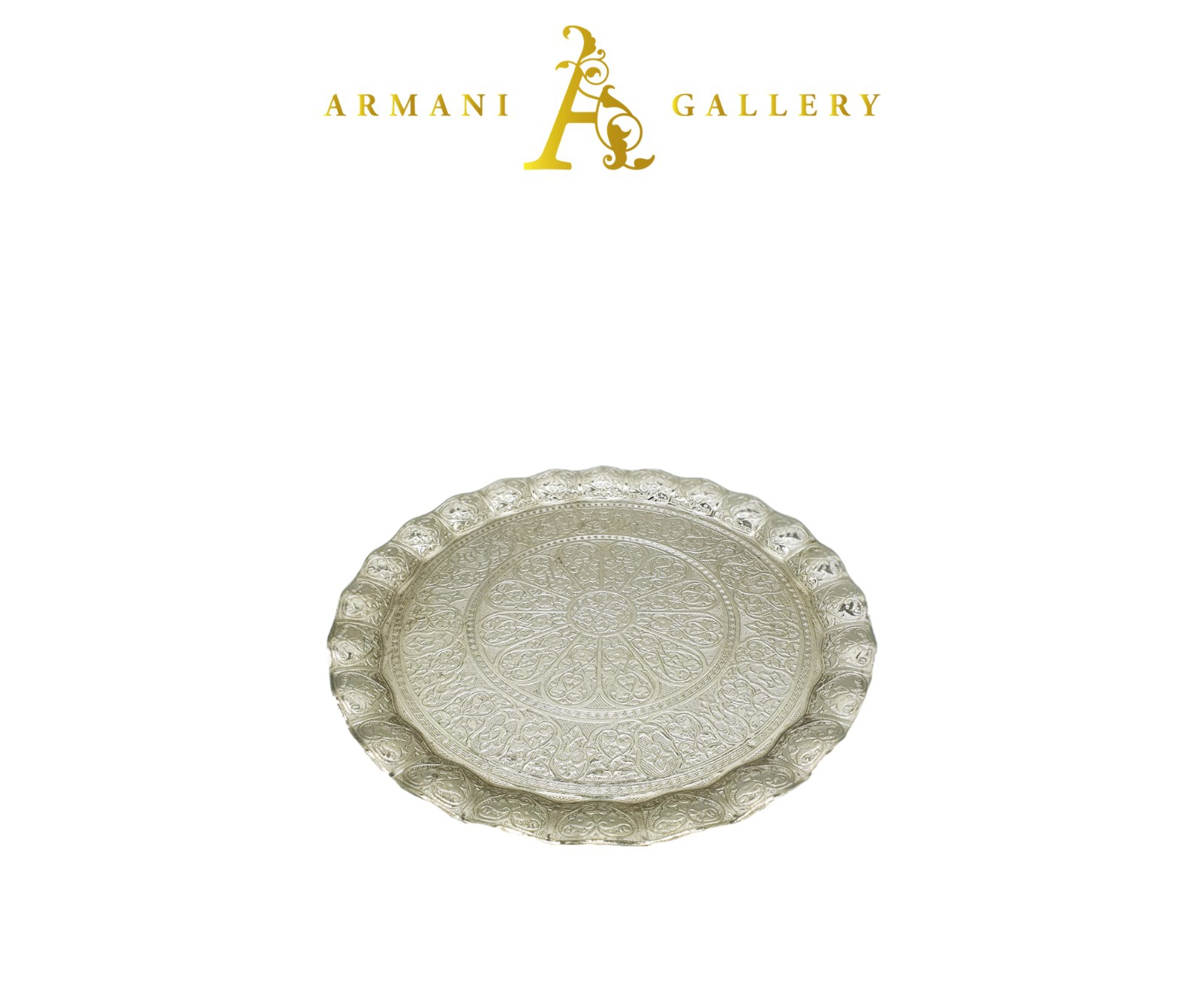 Buy Morrocan Round Tray - Silver
