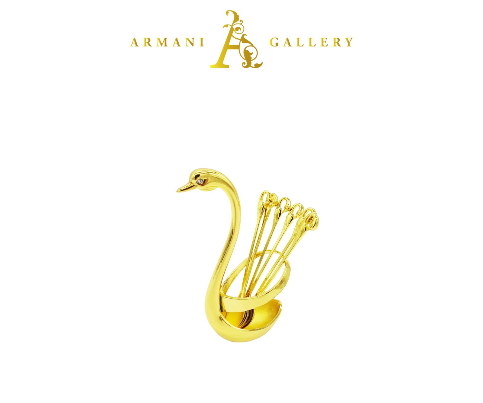 Buy Gold Swan Teaspoon Holder