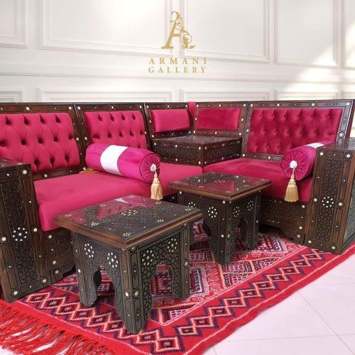 Buy Turkish Red Corner Lounge Set
