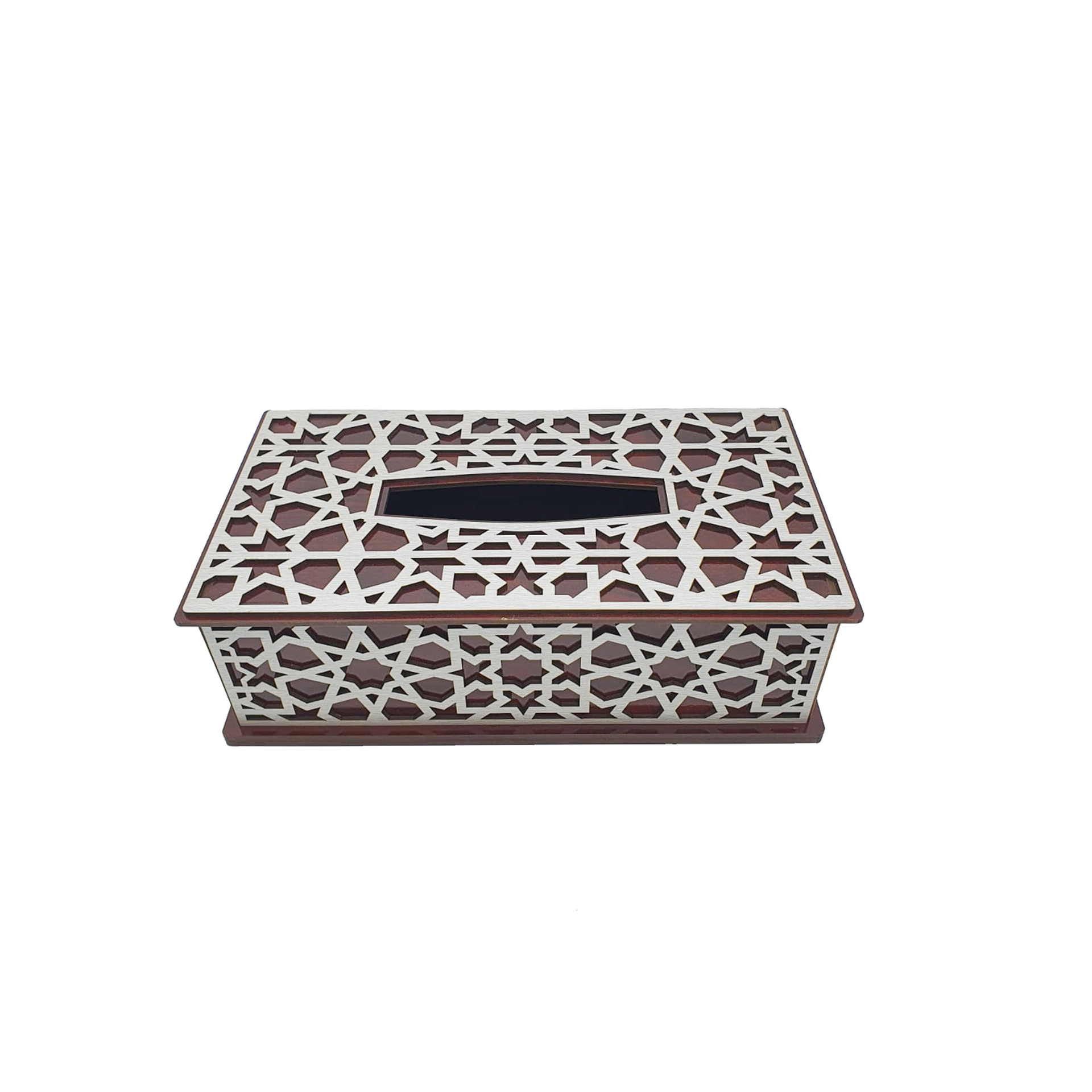 Buy Silver Wooden Tissue Box
