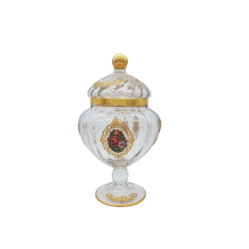 Buy Turkish Floral Tall Glass Canister