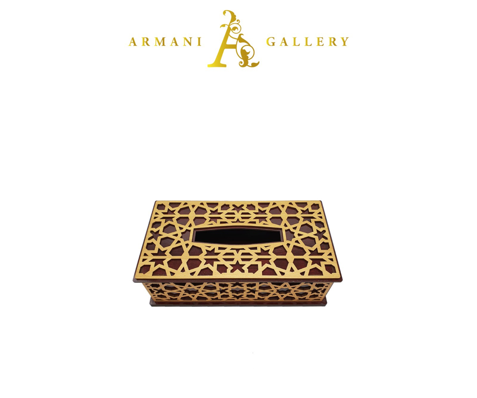 Buy Gold Wooden Tissue Box