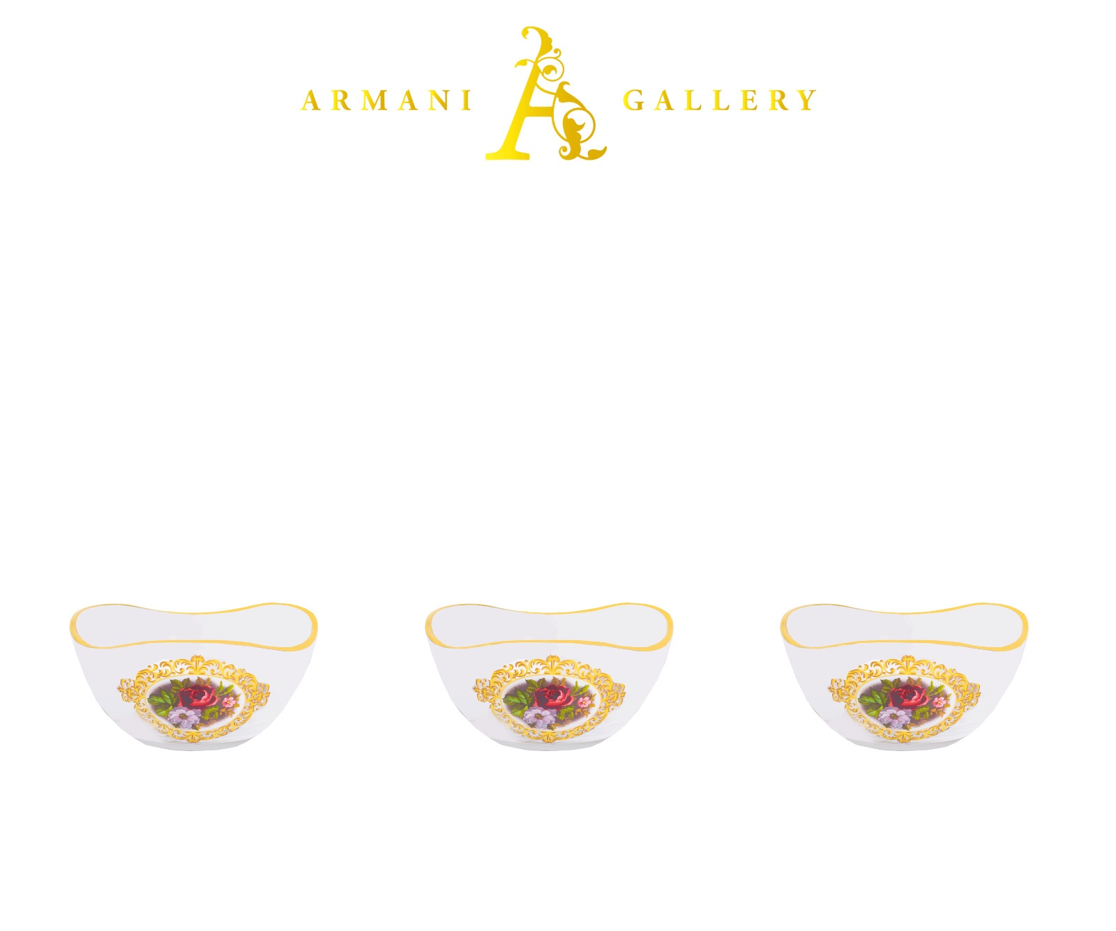 Buy Turkish Floral Dessert Bowl Set