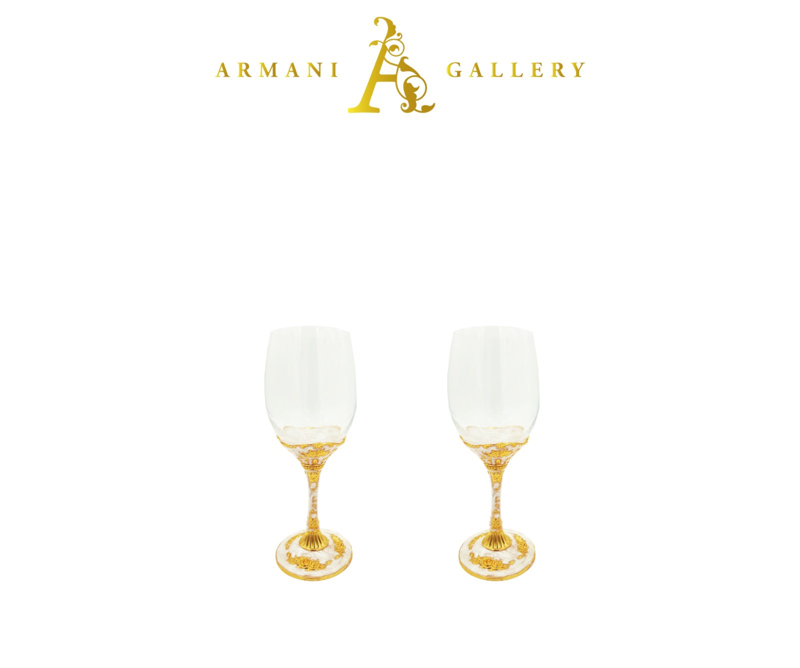 Buy Royal Drinking Glass Set - Gold