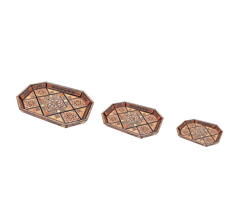 Buy Set of 3 Wooden Serving Tray