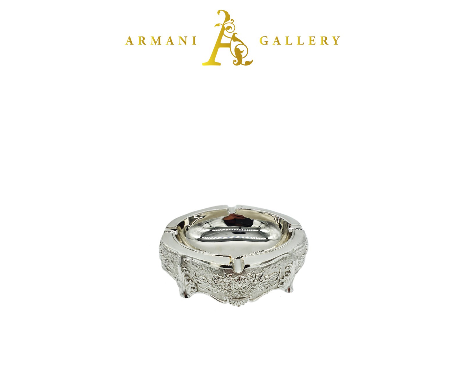 Buy Silver Floral Ashtray