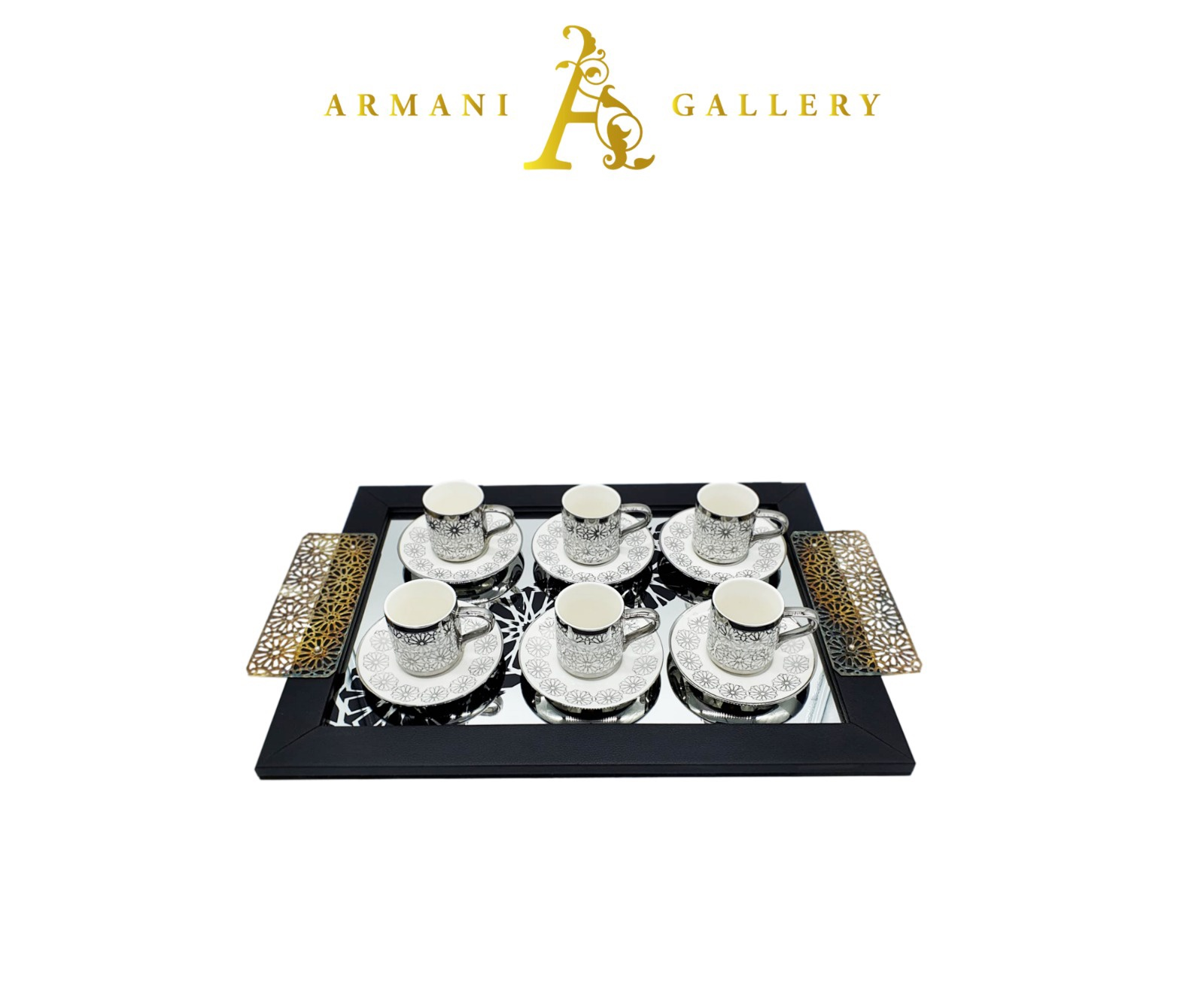 Buy Turkish Silver Coffee Set with Tray