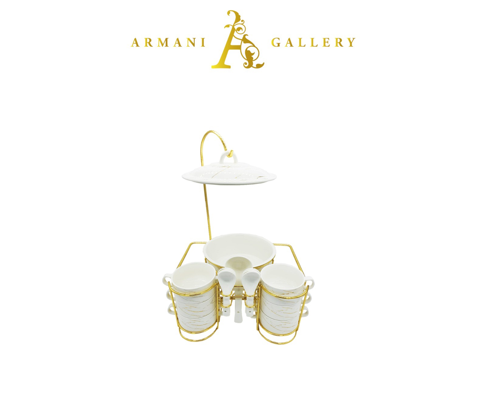 Buy Buffet & Hot Foods Set - White Marble