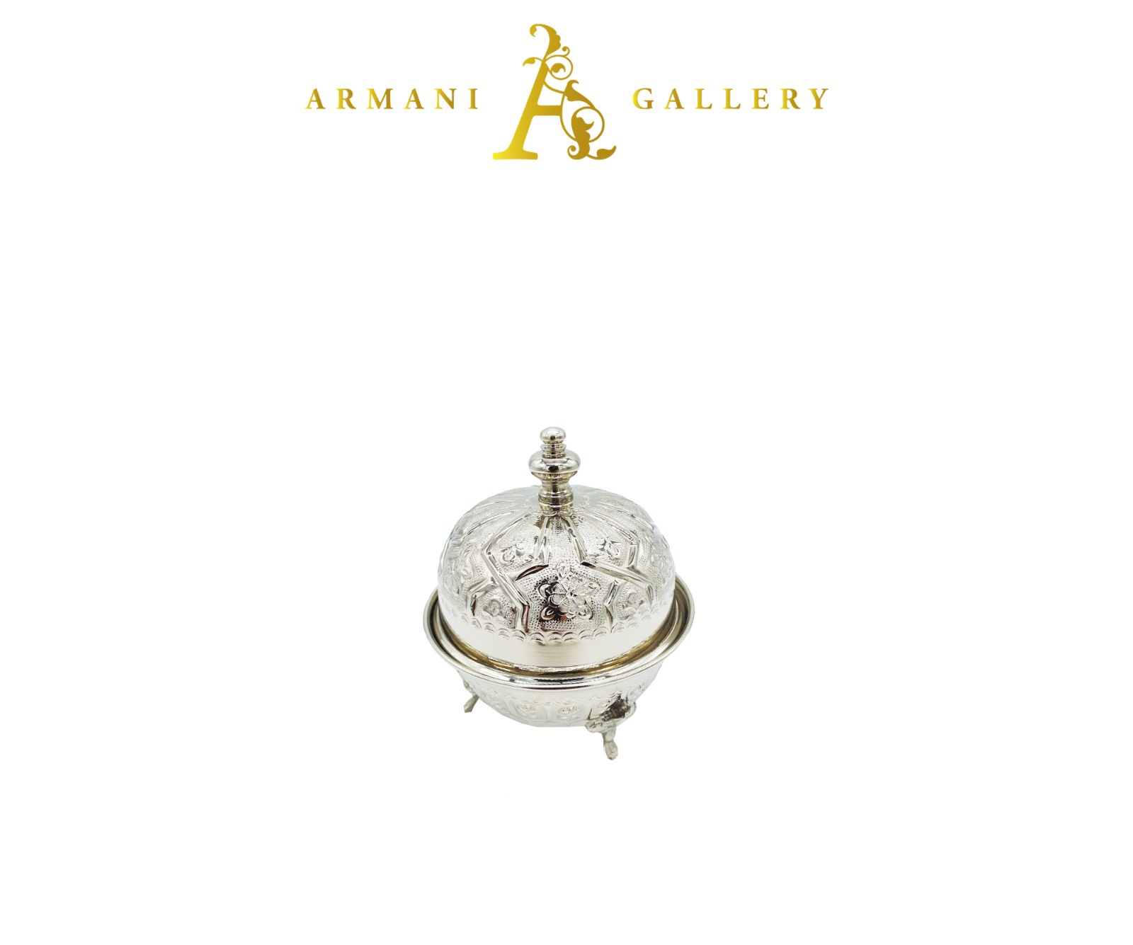 Buy Moroccan Sugar Bowl - Silver