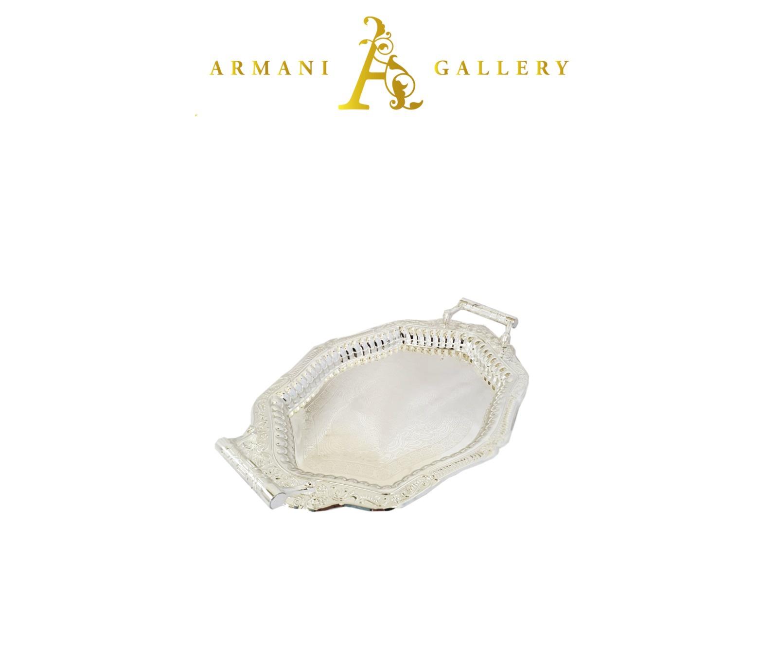 Buy Turkish Diamond Silver Serving Tray