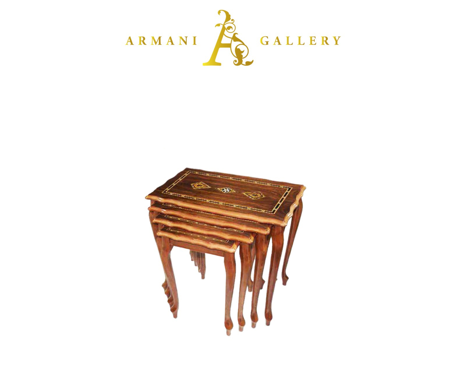 Buy Brown Royal Wooden Nest of Tables