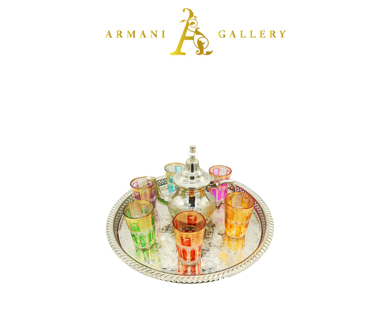 Buy Moroccan Tea set with Tray - Small