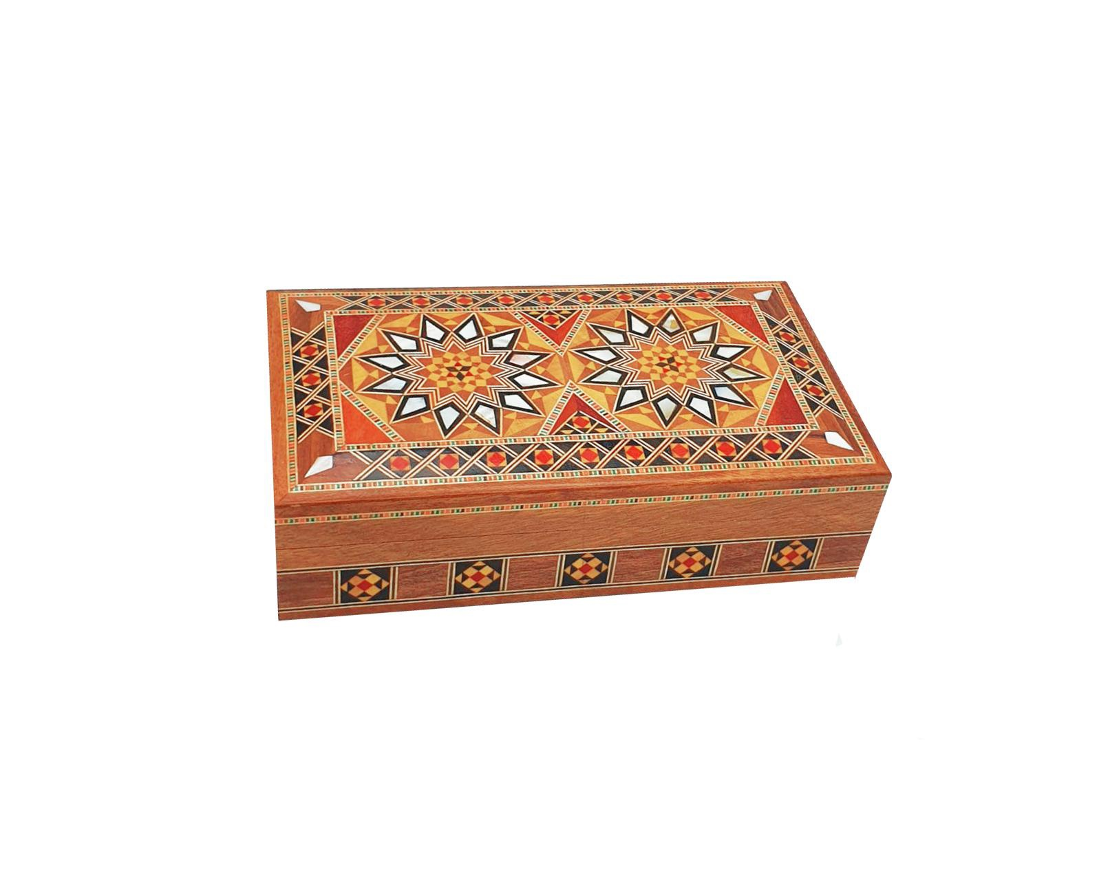 Buy Rectangle Wooden Jewellery Box - S1