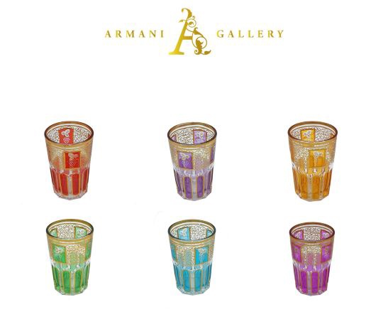 Buy Moroccan Multi Color Glass Cup Set