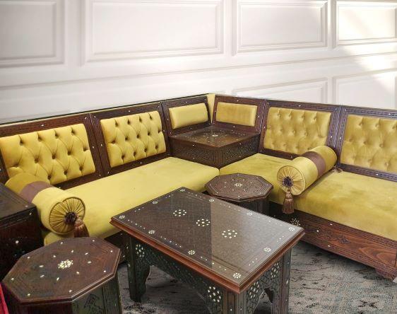 Buy Turkish Mustard Corner Lounge Set