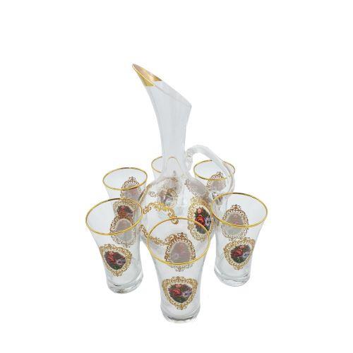 Buy Turkish Floral Water Jug & Glass Set