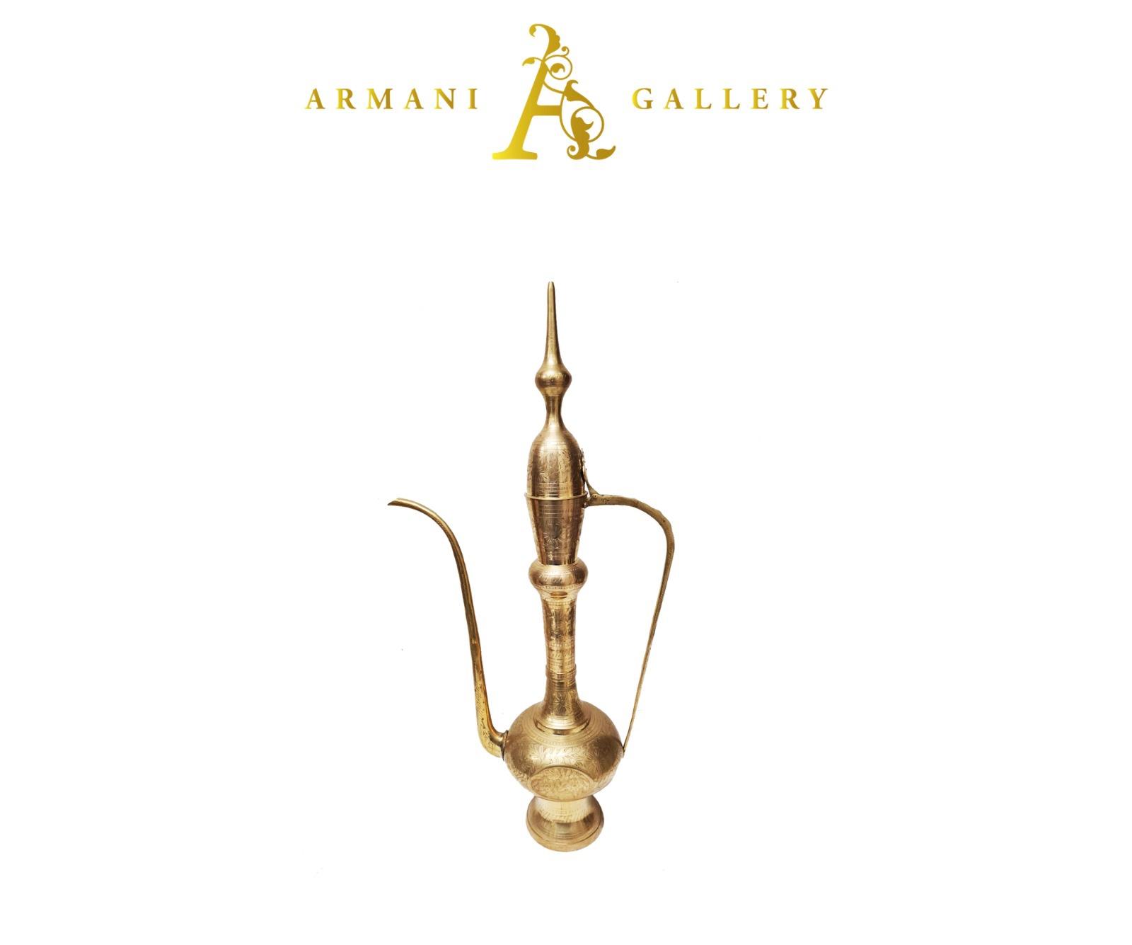Buy Mediterranean Gold Vase Décor Piece - 100cm