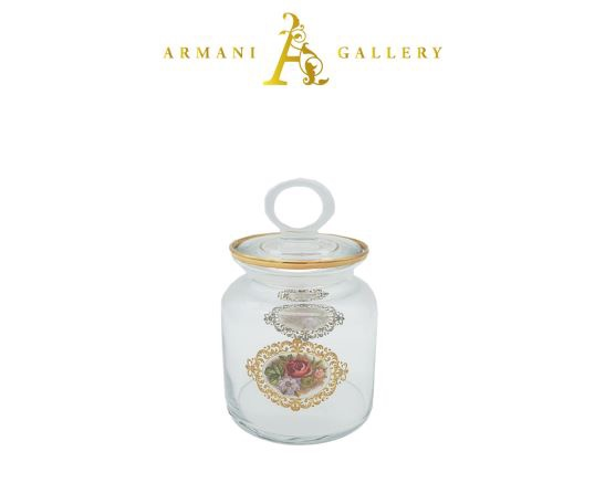 Buy Turkish Floral Glass Canister - Large