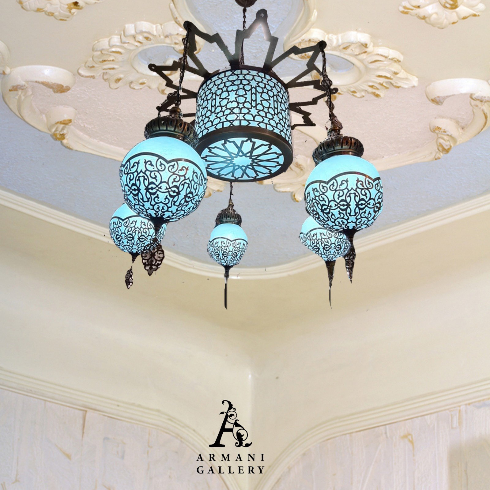 Buy Turkish Ceiling Chandelier SR-1102