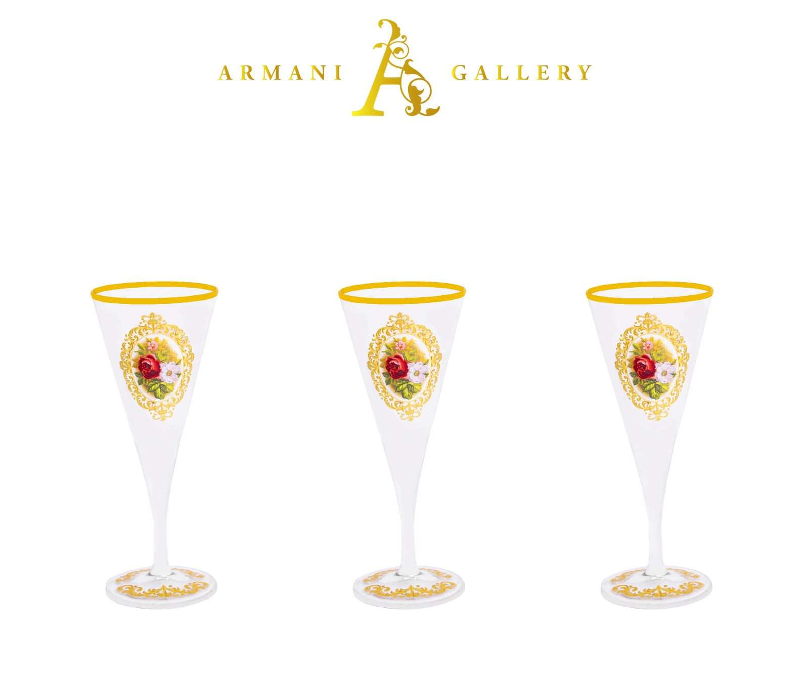 Buy Turkish Floral Tall Cocktail Glass Set