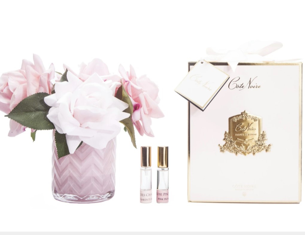 Buy HCF03 PINK Herringbone glass - Mixed Pink Roses