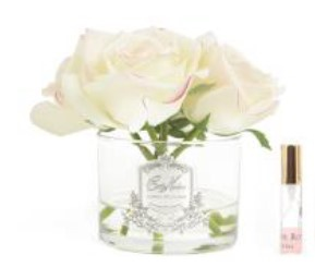 Buy Five Rose Pink Blush clear glass with silver crest