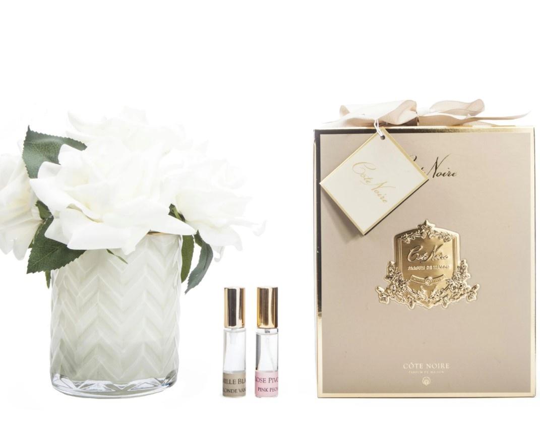 Buy HCF02 - CREAM Herringbone glass - Champagne Roses