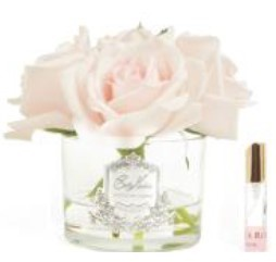 Buy Five Rose Ivory clear glass with silver crest