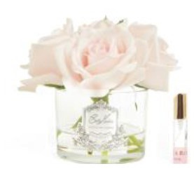 Buy Five Rose French Pink clear glass with silver crest