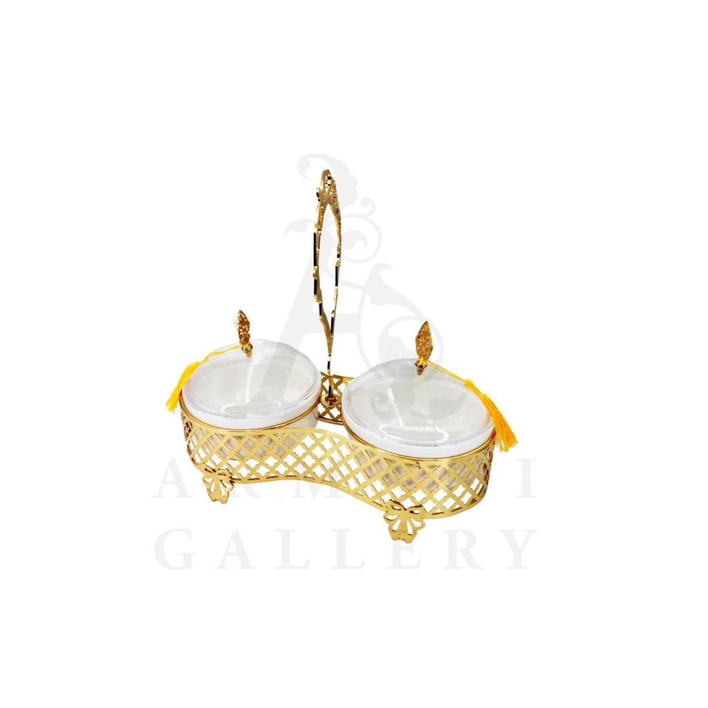 Buy Delight Servers Twin Gold and White 24x16