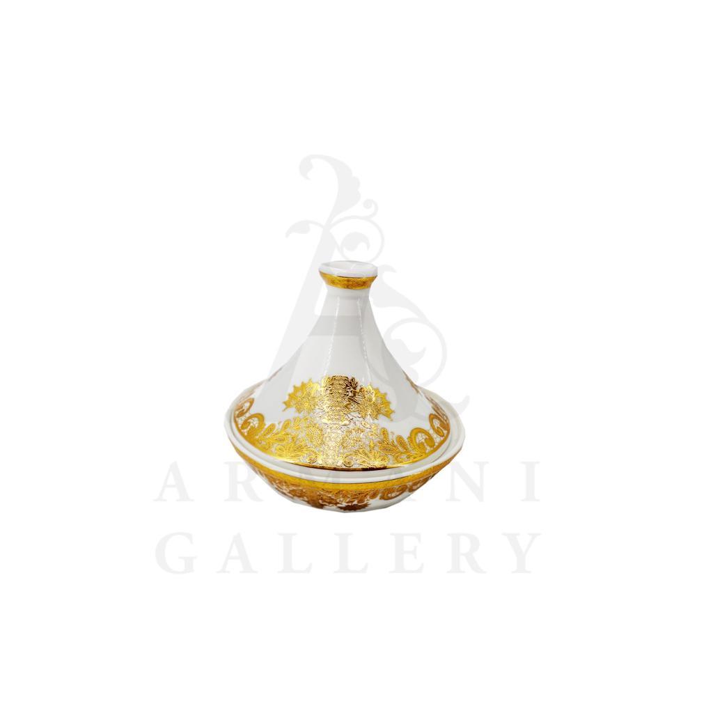 Buy Victoriana tajine dessert server with decal - Gold 1