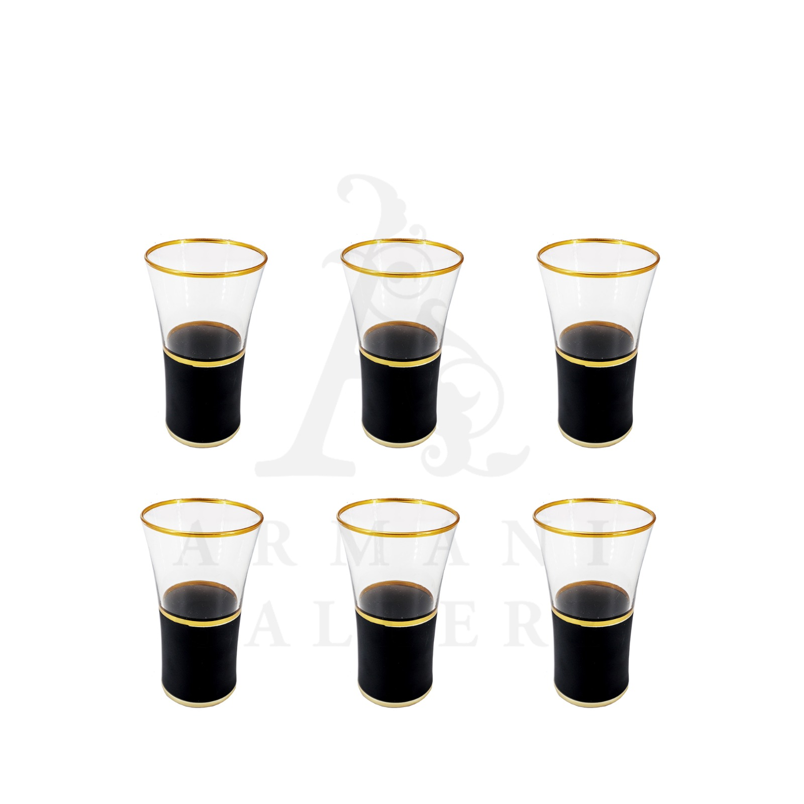 Buy Tall Drinking Glass Set Matte Black 6 Pcs