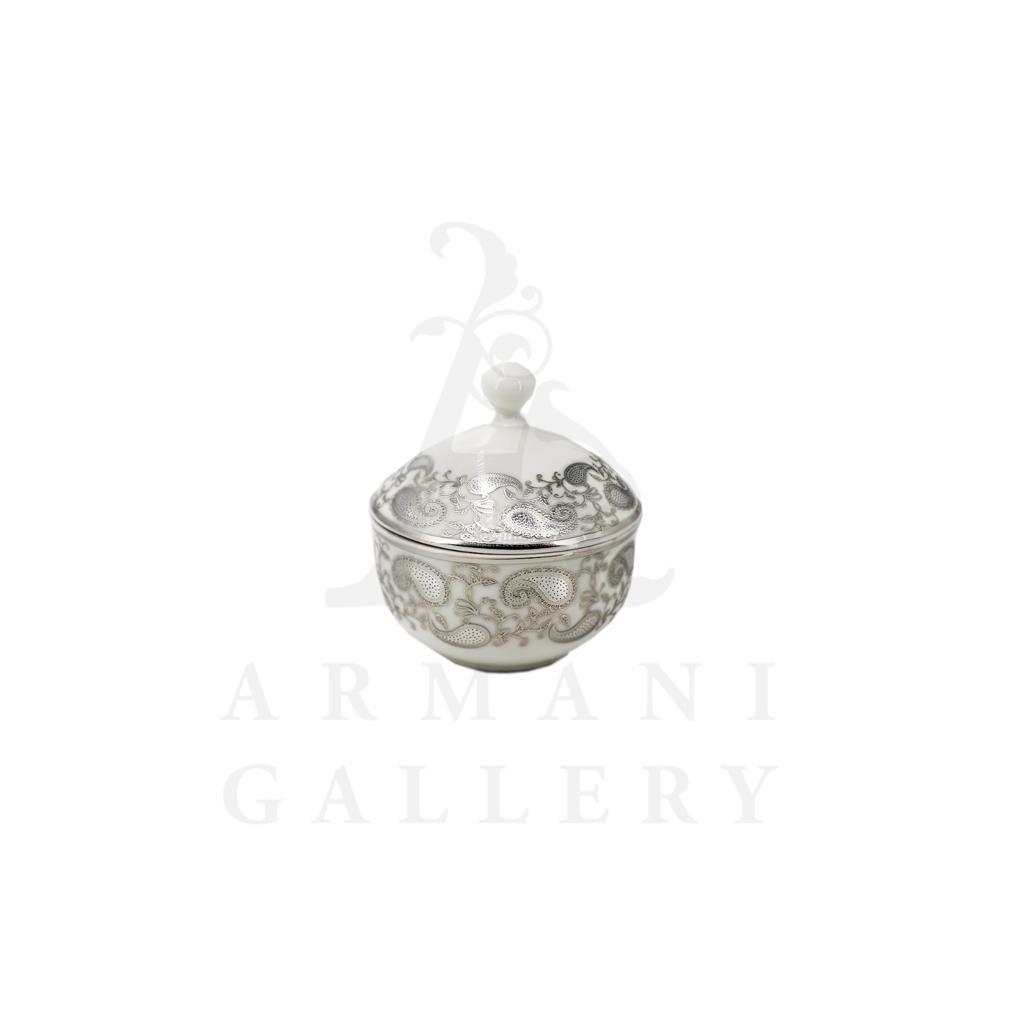 Buy Victoriana sugar pot with cover - Silver 2