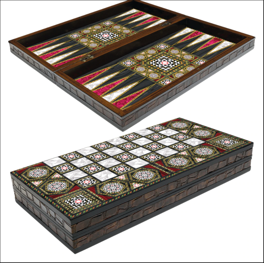 Buy Eser Elegance Backgammon Black Red Set
