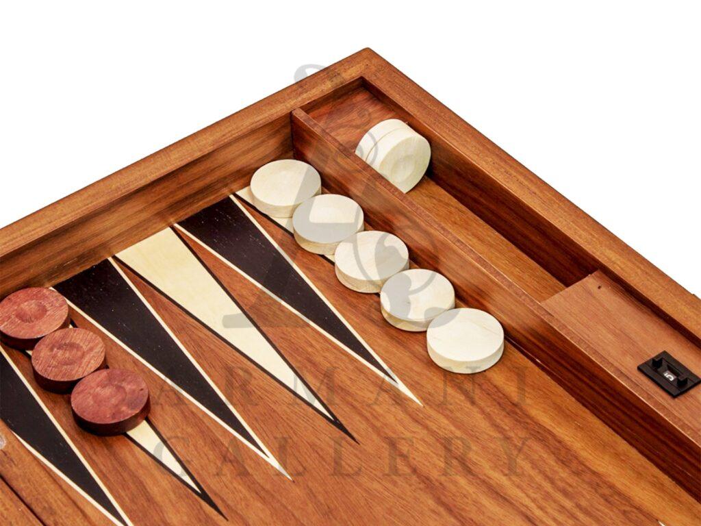 Buy Tuana Game Large Plain Walnut Backgammon 2100