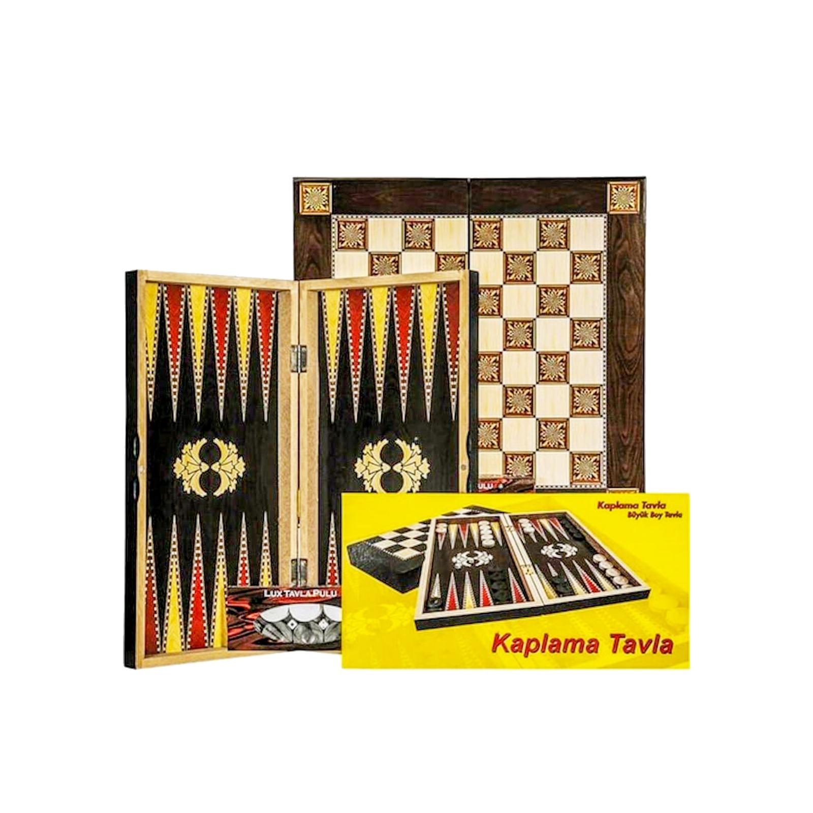 Buy Eser Covered Black Gold Backgammon Set