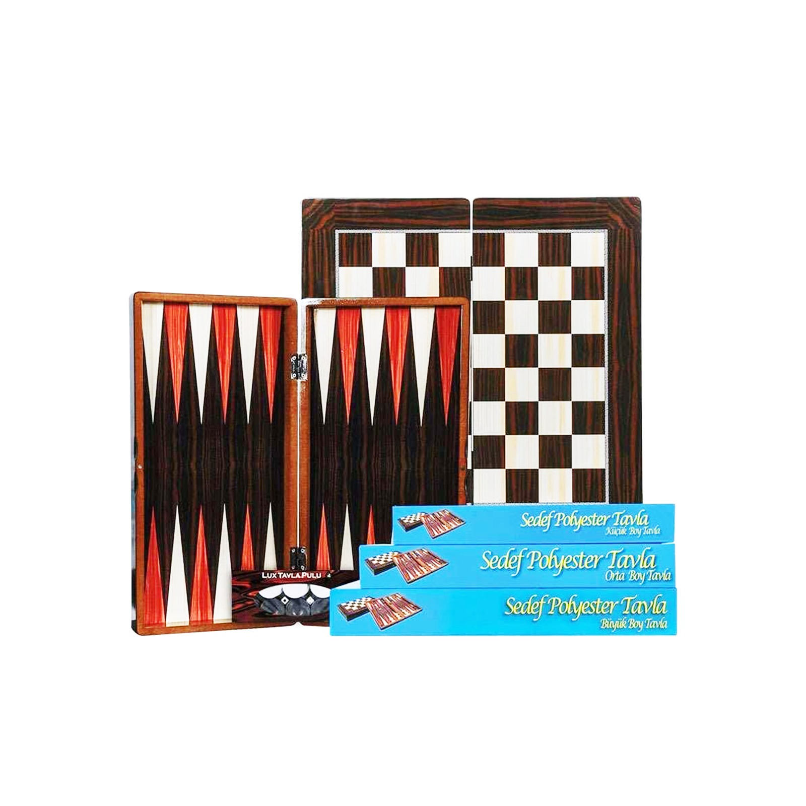 Buy Eser Sedef Polyester Backgammon Set