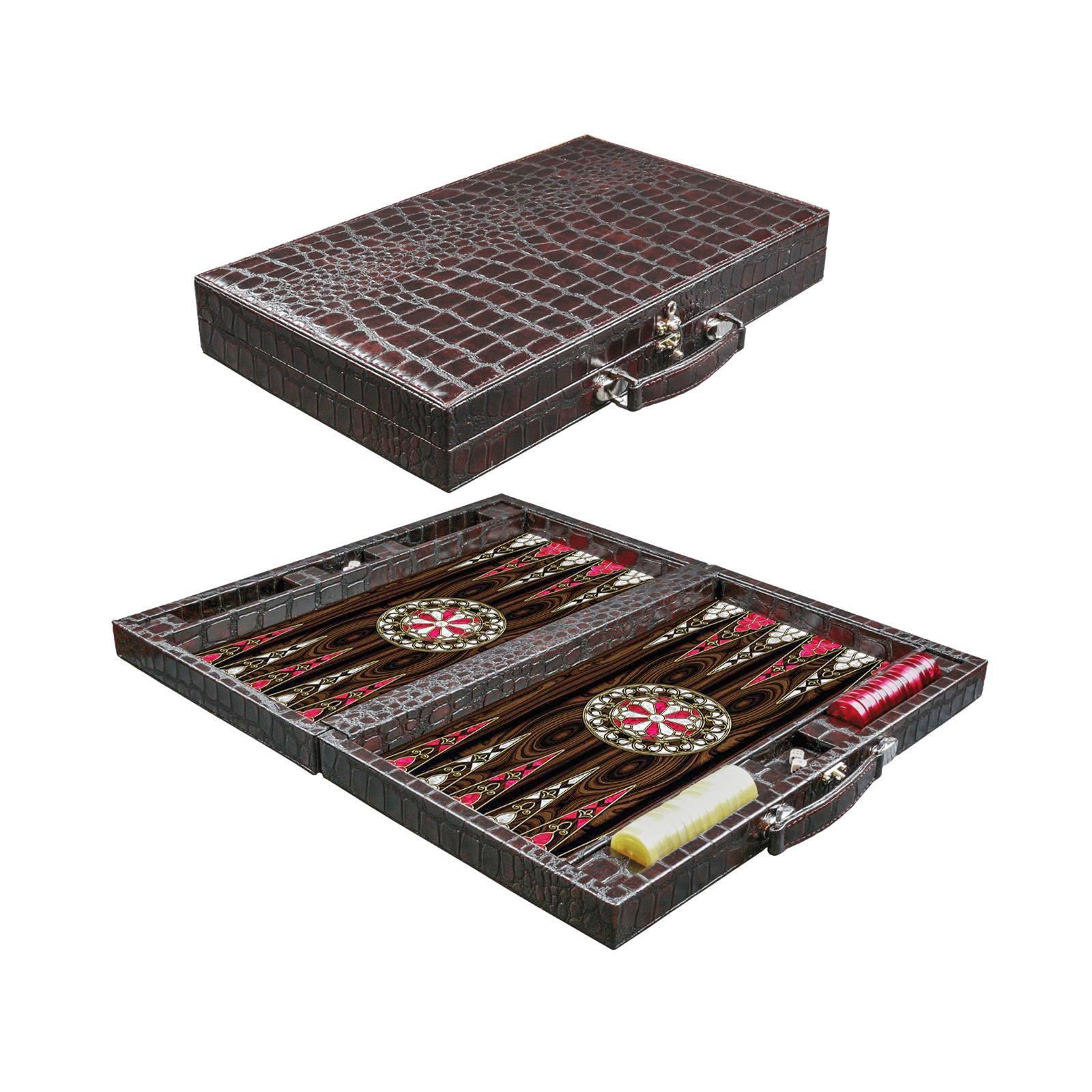 Buy Eser Elegance Leather Covered Backgammon Set