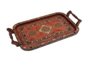 Buy Wooden Tray with Handle - Rose