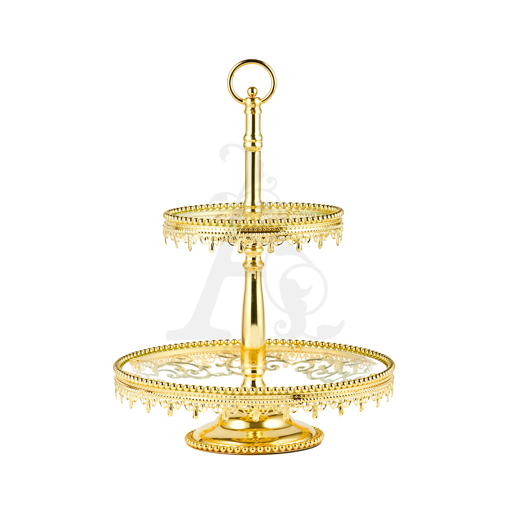 Buy 2 Tiers Delight Serving Stands - Gold Model 2