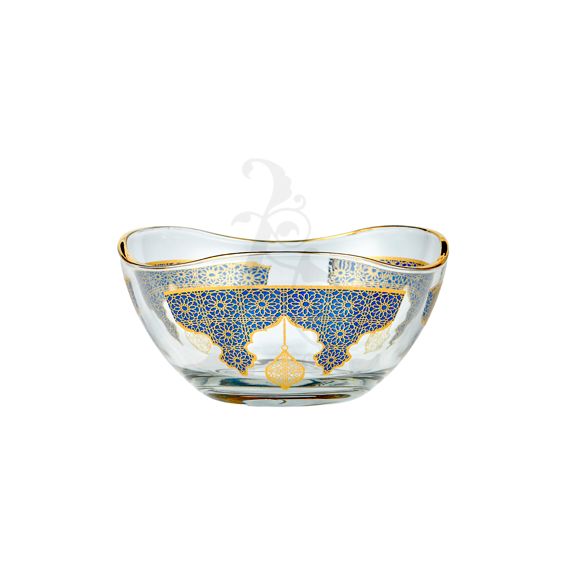 Buy Candy Bowl Navy and Gold 6 Pcs