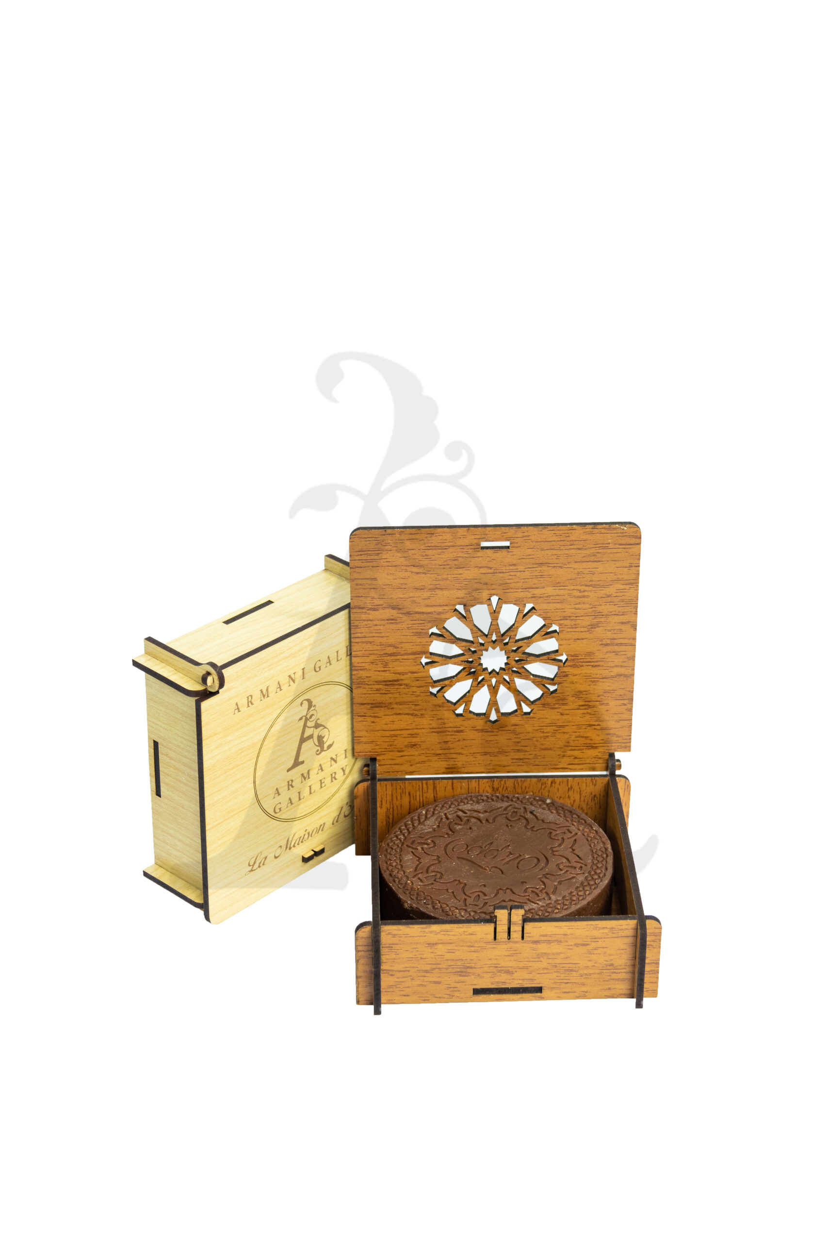 Buy La Maison Natural Soap with Wooden Box - 1 Piece (Brown)