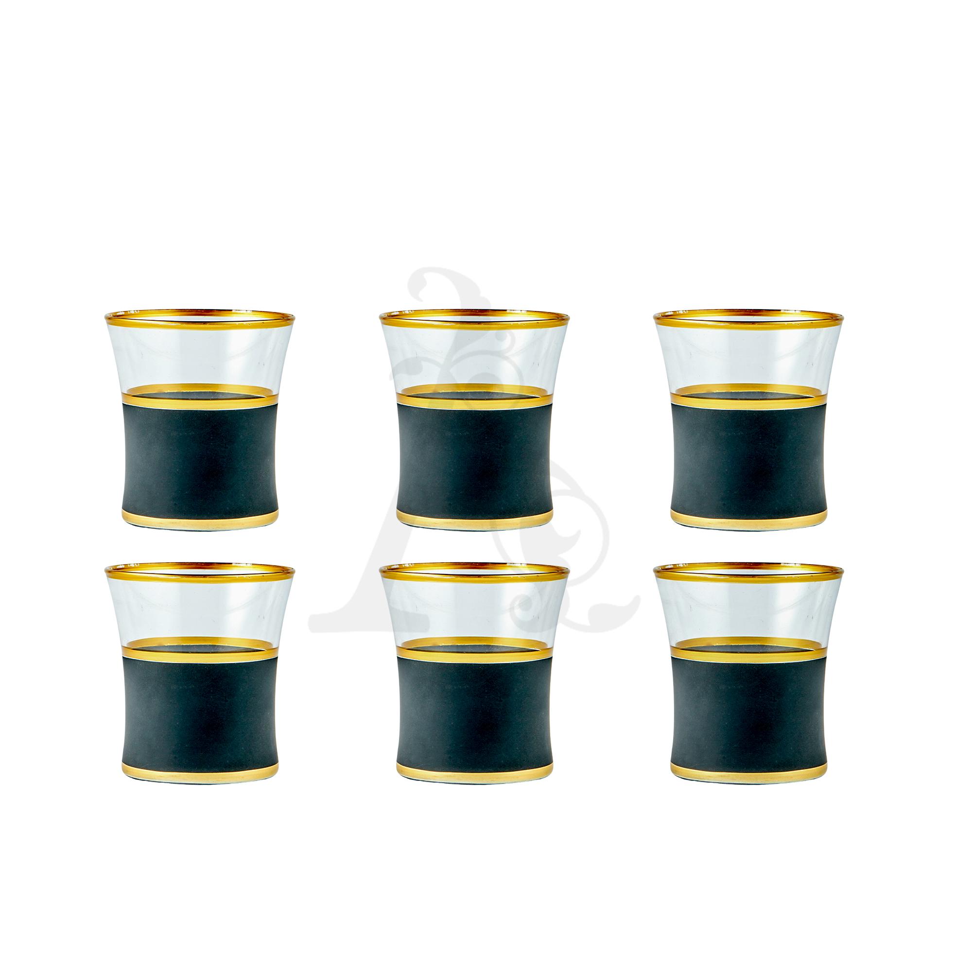 Buy Drinking Glass Set Matte Black 6 Pcs