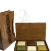Buy La MaiSon Natural Soap Set in Wooden Engraved Box - 6 Pieces (710gm)