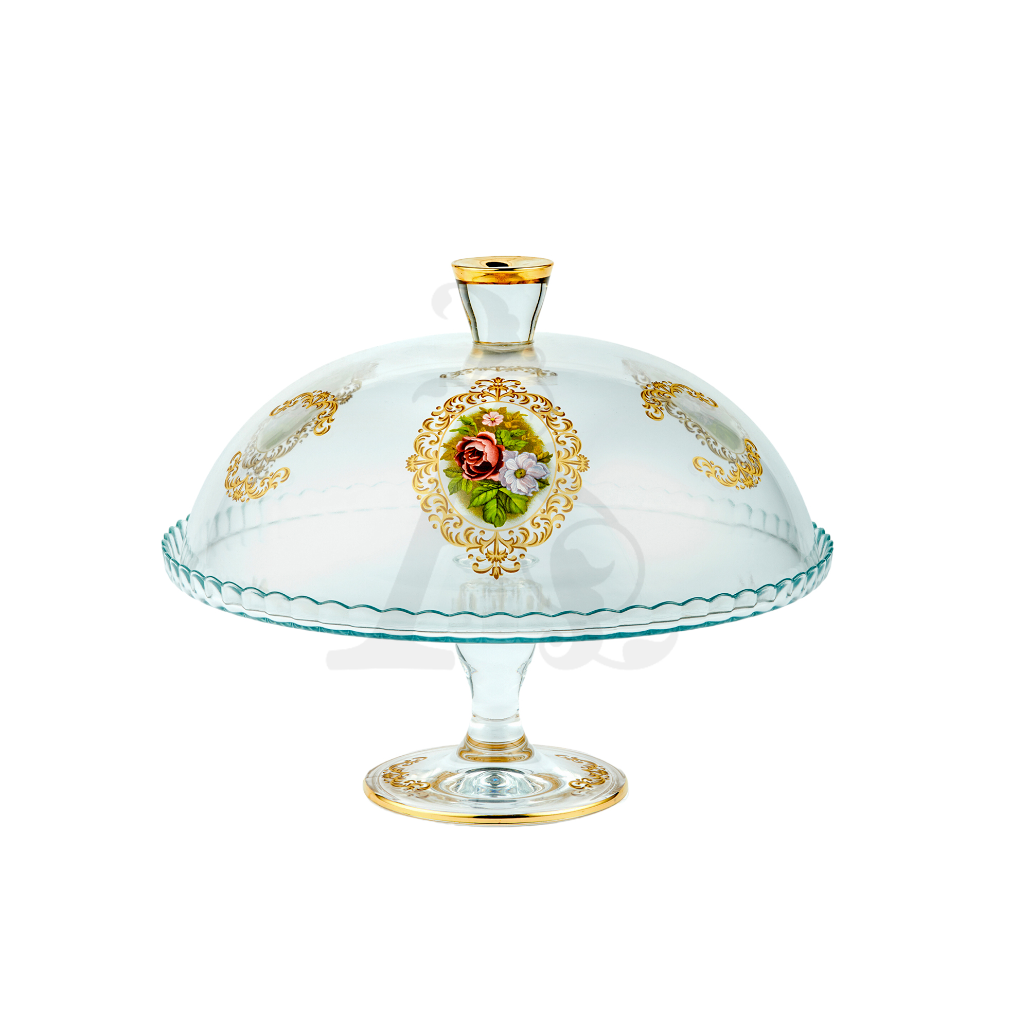 Buy Floral Dessert plate with lid 95200
