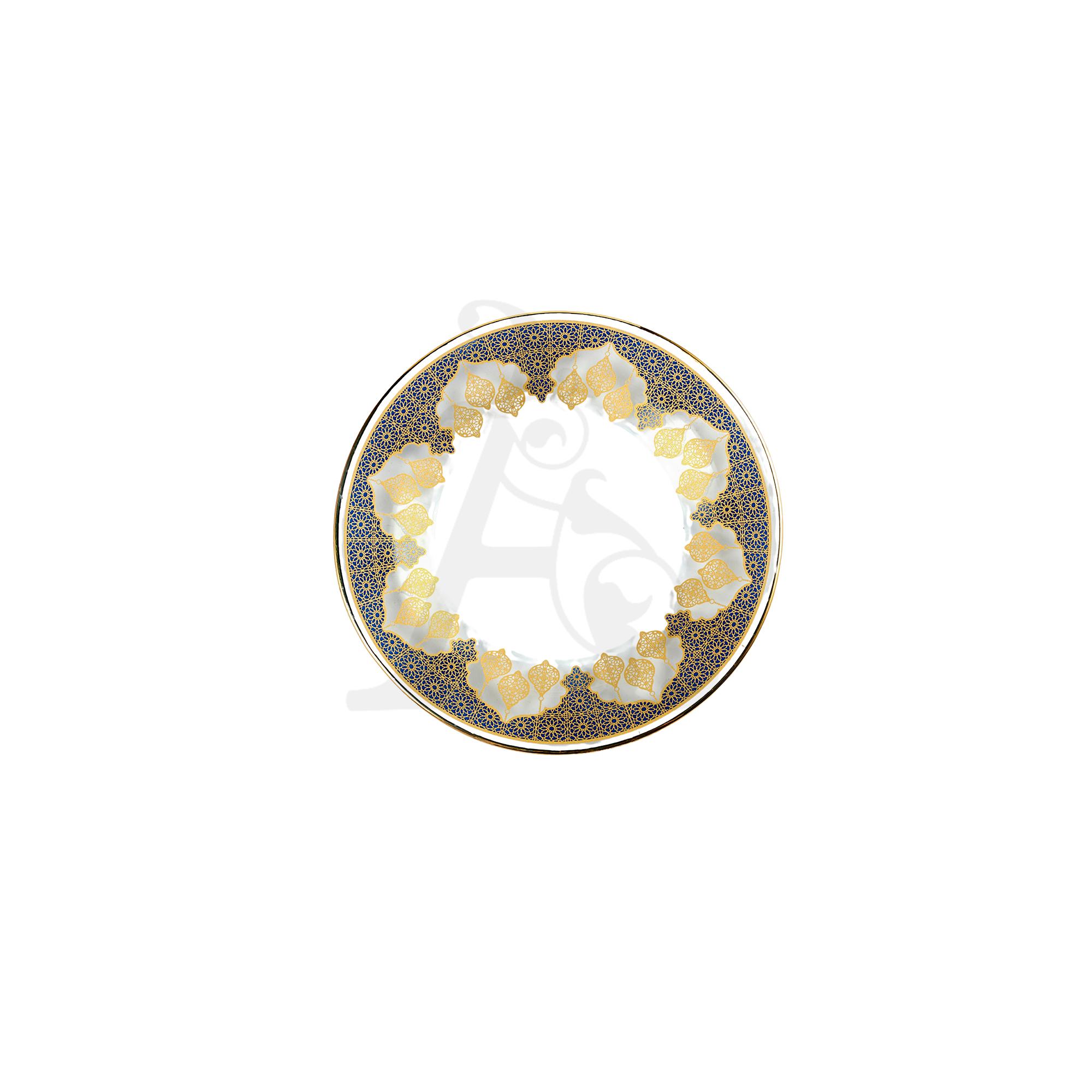 Buy Invitation Tempered Glass Single Plate 10327